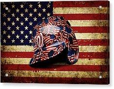 Nationals Batting Helmet Acrylic Print