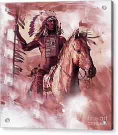 Native American 00932 Acrylic Print by Gull G