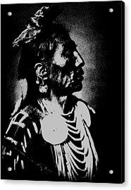 Native American 2 Curtis Acrylic Print by David Bridburg