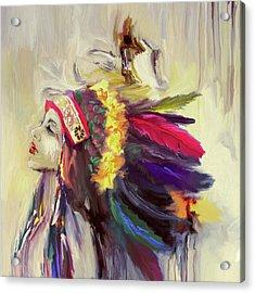 Native American 274 3 Acrylic Print by Mawra Tahreem