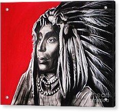 Native American Acrylic Print by Anastasis  Anastasi
