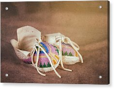 Native American Baby Shoes Acrylic Print by Tom Mc Nemar