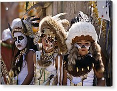 Native American Boys Acrylic Print by Craig Lovell