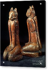 Native American Carvings Acrylic Print by Granger