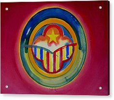 Native American Acrylic Print by Charles Stuart