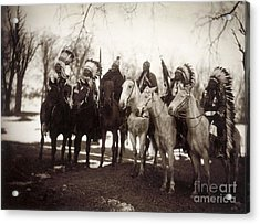 Native American Chiefs Acrylic Print by Granger