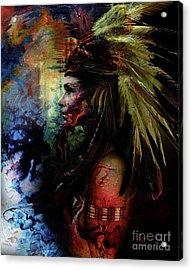 Native American Feather Acrylic Print