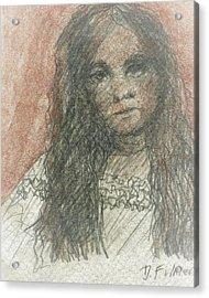 Native American Girl Acrylic Print