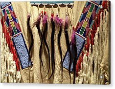 Native American Great Plains Indian Clothing Artwork 06 Acrylic Print by Thomas Woolworth