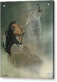 Native American Indian Acrylic Print by Morgan Fitzsimons