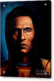 Native American Indian Soaring Eagle Acrylic Print by Georgia's Art Brush