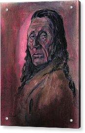 Native American Study Acrylic Print by Raymond Doward