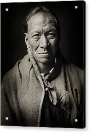 Native American Taos Indian White Clay Acrylic Print by Jennifer Rondinelli Reilly - Fine Art Photography
