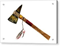 Native American Tomahawk Acrylic Print by Michael Vigliotti