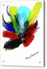 Native American Tribal Feathers Acrylic Print