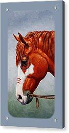 Native American War Horse Phone Case Acrylic Print