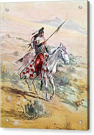 Native American Warrior Acrylic Print