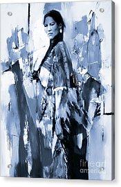 Native American Woman 09 Acrylic Print by Gull G