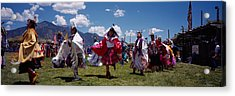 Native Americans Dancing, Taos, New Acrylic Print by Panoramic Images