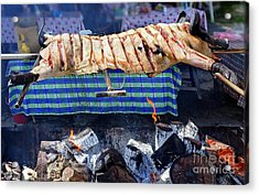 Acrylic Print featuring the photograph Native Barbecue In Taiwan by Yali Shi