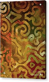 Native Elements Earth Tones Acrylic Print by Mindy Sommers