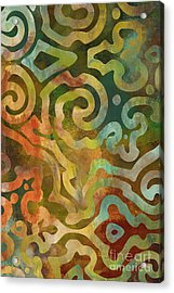 Native Elements Multicolor Acrylic Print by Mindy Sommers