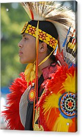 Native Indian Acrylic Print by Dennis Hammer