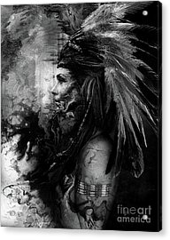Native Indians Feather Acrylic Print