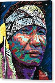 Native Pride Acrylic Print by Maria Arango