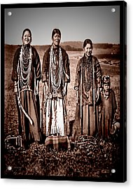 Native Pride Acrylic Print by Mark Allen