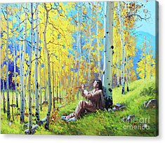 Native Spirit Acrylic Print by Gary Kim