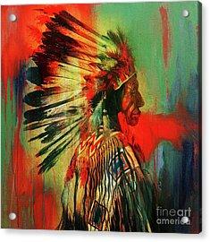 Native Warriors Acrylic Print