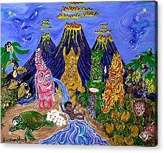 Nativi-tiki Acrylic Print