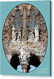 Acrylic Print featuring the photograph Nativity Barcelona by Victoria Harrington