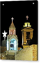 Nativity Church Lights Acrylic Print