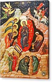 Nativity Icon Acrylic Print