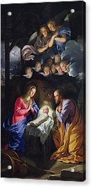 Nativity Acrylic Print by Philippe de Champaigne