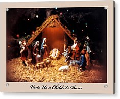 Nativity Scene Greeting Card Acrylic Print