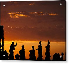 Nativity Sunrise Acrylic Print by Andrew Soundarajan