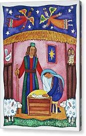 Nativity With Angels Acrylic Print