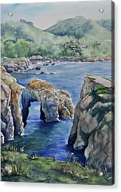 Natural Arch - Carmel Acrylic Print by Sandy Fisher