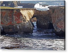 Natural Bridge At Point Arena Acrylic Print