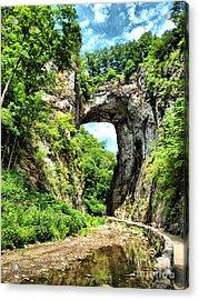 Natural Bridge Acrylic Print by Kathy Jennings