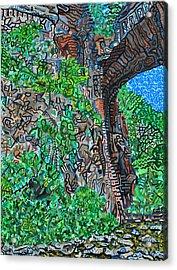 Natural Bridge Acrylic Print by Micah Mullen