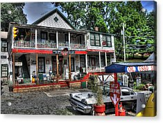 Natural Bridge Station Store Acrylic Print by Todd Hostetter