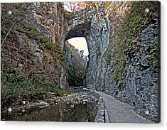 Acrylic Print featuring the photograph Natural Bridge Virginia by Suzanne Stout