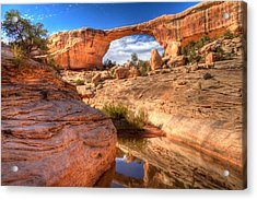 Natural Bridges National Monument Acrylic Print by Utah Images