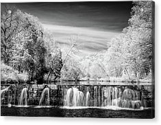Acrylic Print featuring the photograph Natural Dam Film Noir by James Barber