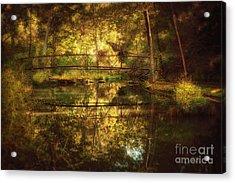 Natural Falls Bridge  Acrylic Print