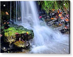 Acrylic Print featuring the photograph Natural Flowing Water by Frozen in Time Fine Art Photography